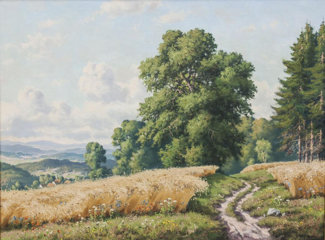 Undeutlich signierender Künstler, Landschaft im Odenwald/Landscape, 20. Jh.