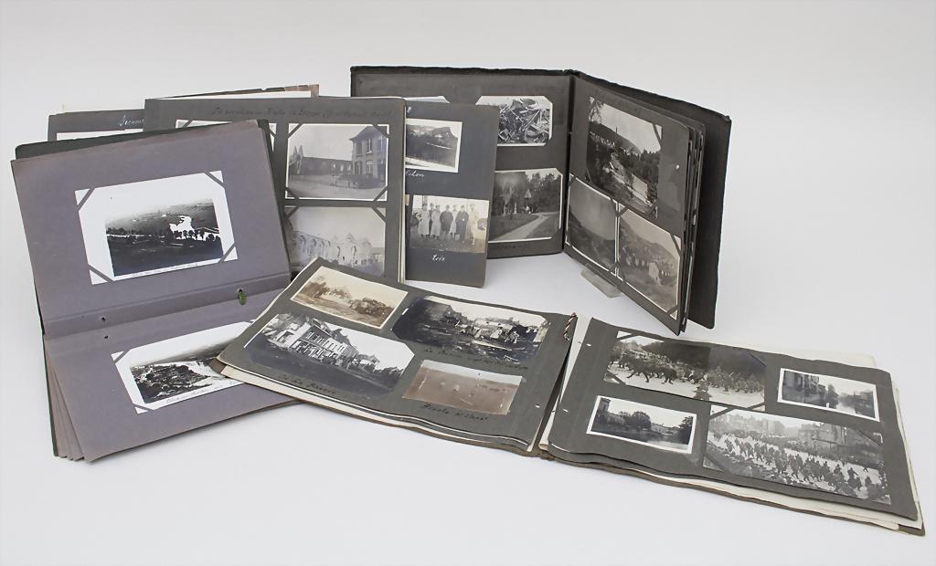 Lot 4 Alben Fotos Kriegserinnerungen / Private War Pictures Memories, 1. WK